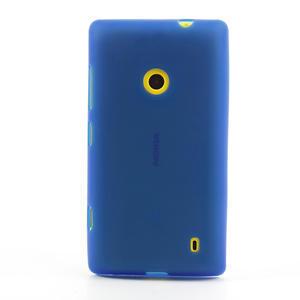 Gélové matné puzdro na Nokia Lumia 520 - modré - 2
