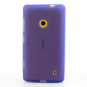 Gélové matné puzdro na Nokia Lumia 520 - fialové - 2