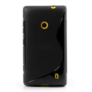 Gélové S-line puzdro na Nokia Lumia 520- čierné - 2