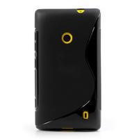 Gélové S-line puzdro na Nokia Lumia 520- čierné - 2/6