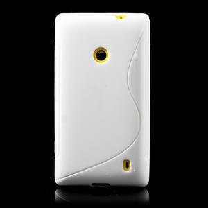 Gélové S-line puzdro na Nokia Lumia 520- biele - 2