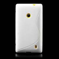 Gélové S-line puzdro na Nokia Lumia 520- biele - 2/6