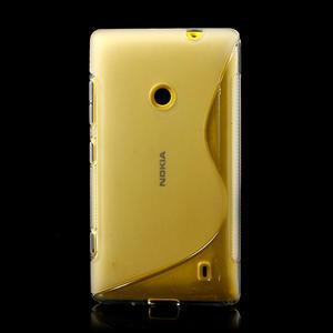Gélové S-line puzdro na Nokia Lumia 520- transparentný - 2