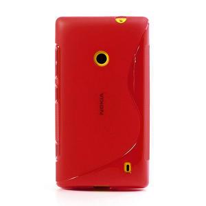 Gélové S-line puzdro na Nokia Lumia 520- červené - 2