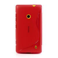 Gélové S-line puzdro na Nokia Lumia 520- červené - 2/6