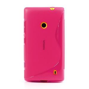 Gélové S-line puzdro na Nokia Lumia 520- růžové - 2