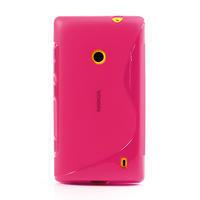 Gélové S-line puzdro na Nokia Lumia 520- růžové - 2/6