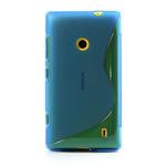 Gélové S-line puzdro na Nokia Lumia 520- modré - 2/6