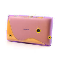 Gélové S-line puzdro na Nokia Lumia 520- fialové - 2/5