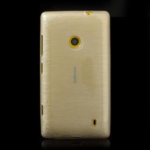 Gélové kartáčové puzdro na Nokia Lumia 520- biele - 2