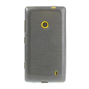 Gélové kartáčové puzdro na Nokia Lumia 520- šedé - 2