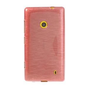 Gélové kartáčové puzdro na Nokia Lumia 520- svetleružové - 2