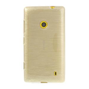 Gélové kartáčové puzdro na Nokia Lumia 520- zlaté - 2
