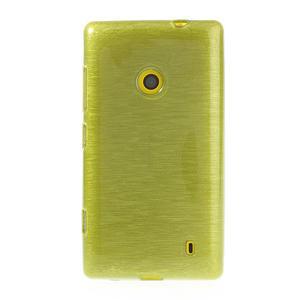 Gélové kartáčové puzdro na Nokia Lumia 520- zelené - 2