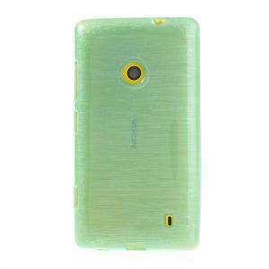 Gélové kartáčové puzdro na Nokia Lumia 520- zelenomodré - 2