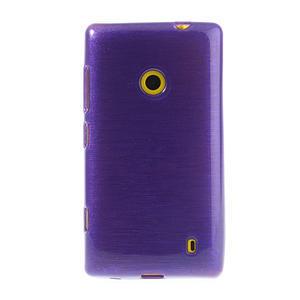 Gélové kartáčové puzdro na Nokia Lumia 520- fialové - 2