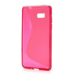 Gélové S-line puzdro pre HTC Desire 600- červené - 2