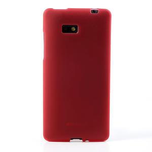 Gélové matné puzdro pre HTC Desire 600- červené - 2