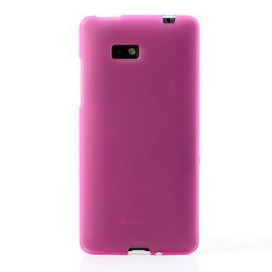 Gélové matné puzdro pre HTC Desire 600- ružové - 2