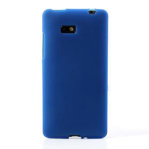 Gélové matné puzdro pre HTC Desire 600- modré - 2