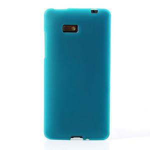 Gélové matné puzdro pre HTC Desire 600- svetlo modré - 2