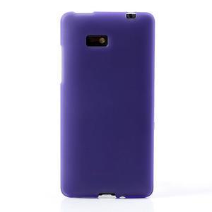 Gélové matné puzdro pre HTC Desire 600- fialové - 2