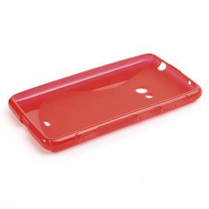 Gélové S-line puzdro pre Nokia Lumia 625- červené - 2
