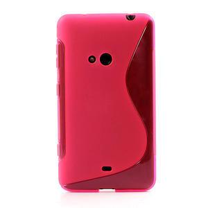 Gélové S-line puzdro pre Nokia Lumia 625- ružové - 2