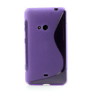 Gélové S-line puzdro pre Nokia Lumia 625- fialové - 2