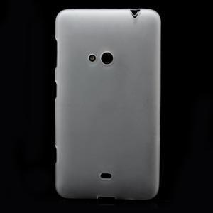 Gélové matné puzdro pre Nokia Lumia 625- biele - 2