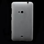 Gélové matné puzdro pre Nokia Lumia 625- biele - 2/5