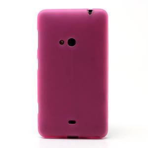 Gélové matné puzdro pre Nokia Lumia 625- ružové - 2