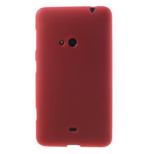 Gélové matné puzdro pre Nokia Lumia 625- červené - 2