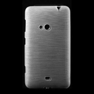 Gélové kartáčové puzdro na Nokia Lumia 625 - biele - 2