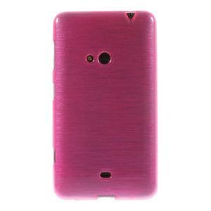 Gélové kartáčové puzdro na Nokia Lumia 625 - ružové - 2