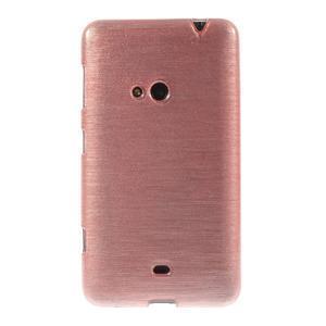 Gélové kartáčové puzdro na Nokia Lumia 625 - svetleružové - 2