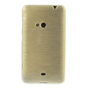 Gélové kartáčové puzdro na Nokia Lumia 625 - zlaté - 2