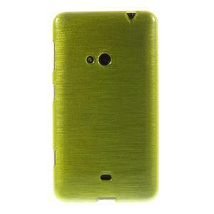 Gélové kartáčové puzdro na Nokia Lumia 625 - zelené - 2