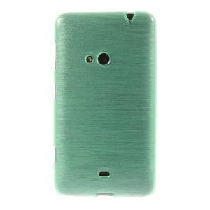Gélové kartáčové puzdro na Nokia Lumia 625 - cyan - 2