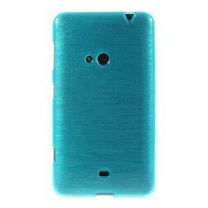 Gélové kartáčové puzdro na Nokia Lumia 625 - modré - 2