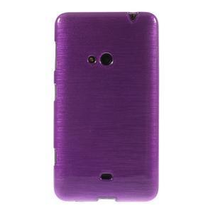Gélové kartáčové puzdro na Nokia Lumia 625 - fialové - 2