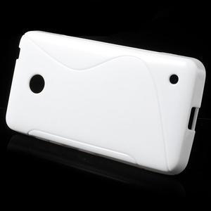 Gélové S-line puzdro na Nokia Lumia 630- biele - 2