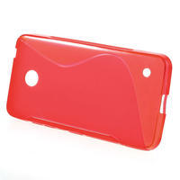 Gélové S-line puzdro na Nokia Lumia 630- červené - 2/5