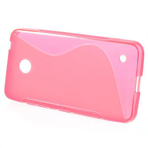 Gélové S-line puzdro na Nokia Lumia 630- ružové - 2