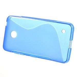 Gélové S-line puzdro na Nokia Lumia 630- modré - 2