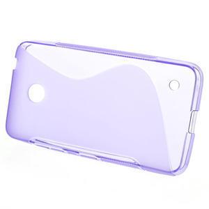 Gélové S-line puzdro na Nokia Lumia 630- fialové - 2