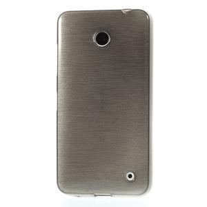 Gélové Kartáčové puzdro na Nokia Lumia 630- šedé - 2