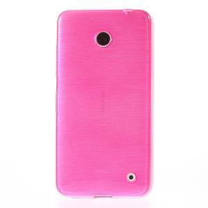 Gélové Kartáčové puzdro na Nokia Lumia 630- ružové - 2