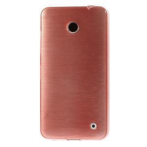 Gélové Kartáčové puzdro na Nokia Lumia 630- svetleružové - 2