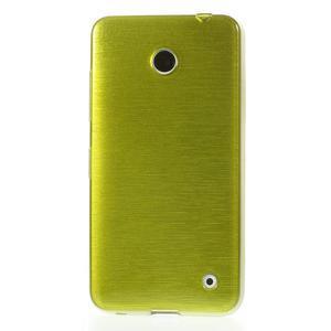 Gélové Kartáčové puzdro na Nokia Lumia 630- zelené - 2
